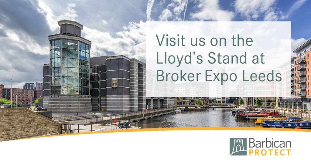 Visit us on the Llyod's Stand at Broker Expo Leeds